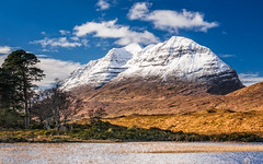 Postcard Pretty (Stoates-Findhorn) Tags: winter mountain snow scotland highlands unitedkingdom loch clair torridon kinlochewe liatach