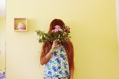 IMG_0419 (krizkolovesyou) Tags: flowers girls portrait cute girl canon dress pastel room kawaii canonrebel wildflowers filipina canonn canon600 tumblr canonti canon600d canont3i