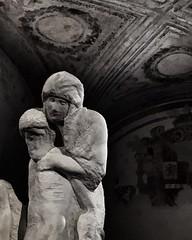 La Piet (fabrizio6ilconte) Tags: blackandwhite sculpture milan art la arte milano michelangelo castello sforzesco piet rondanini