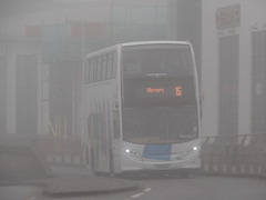 Fog bound (Coco the Jerzee Busman) Tags: uk islands coach ct jersey plus channel libertybus