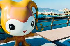 DSCF6364 (koribrus) Tags: ocean sea water girl gold fuji expo cartoon korea mascot boardwalk fujifilm yeosu jeollanamdo x100s