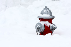 Fire Hydrant (Benny2006) Tags: red snow storm color weather firehydrant help