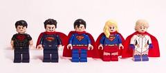 Supes Family (bravedesign) Tags: girl kara dawn justice dc kent power lego super el karen superman teen clark batman supergirl heroes vs minifig jl superheroes custom unlimited superboy titans league kal starr minifigure kalel zor jla zorel batmanvsuperman