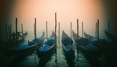 Misty Morning on the Grand Canal (www.arayphoto.com) Tags: morning venice italy mist water fog sunrise boat canal italian italia venezia grandcanal gondolas