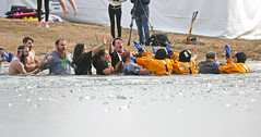 High Fives All Around (jrussell.1916) Tags: winter ice yellow lakes kansascity kansas specialolympics shawneemissionpark polarplunge highfives canon400mmf56lusm