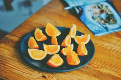 healthy makes happy (ivvy million) Tags: summer food orange kitchen fruit 50mm healthy essen snack obst gesund nikond90 ivvymillion