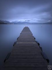 Bleu nuit (cedric.chiodini) Tags: longexposure blue lake water night eau lac bleu le ponton filtre poselongue canon5dmkiii