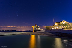 Oasis by the Oslofjord (Curtski22) Tags: longexposure nightphotography sea lighthouse norway nightlights no le shore nightsky nightphoto oslofjorden hurum buskerud filtvet filtvetfyr villamalla