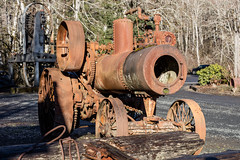 2016-01-10 - Camp 18 Rusty Stuff-14 (www.bazpics.com) Tags: road old sunset camp usa tractor oregon america train work coast boat highway rust 26 crane or collection equipment 18 plough deteriorated digger