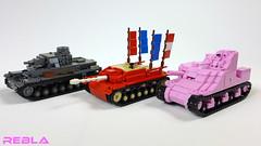 Girls und Panzer tanks (& update) (Rebla) Tags: pink girls anime und lego wwii manga lee ww2 m3 panzer rebla stugiiiausff panzerivausfd