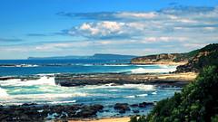 Pacific coast (PeterCH51) Tags: ocean sea seascape landscape coast scenery pacific rocky australia coastline rugged norahhead peterch51
