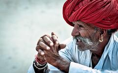Listener . . . Pushkar-20151116-13.18.57 - 00026 (Swaranjeet) Tags: november portrait people india indian ethnic pushkar rajasthan mela rajasthani 2015 camelfair animalfair