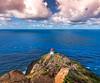 Makapu'u Point Lighthouse Trail Hawaii (meeyak) Tags: ocean travel blue vacation lighthouse mountains clouds outdoors island hawaii nikon paradise cloudy oahu hiking windy hike cliffs adventure trail pacificocean makapuu d800 makapuubeach makapuupoint nikerunning meeyak