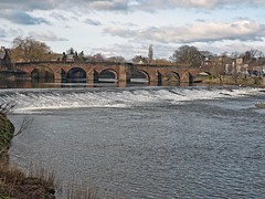 River Nith at the White Sands in Dumfries (penlea1954) Tags: old uk bridge white lady john river scotland king dam bridges sands oldest balliol weir dumfries galloway nith caul devorgilla