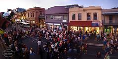Fringe Festival 2016 (Paula McManus) Tags: panorama crowd olympus adelaide streetperformer southaustralia fringefestival rundlestreet streettheatre paulamcmanus pancholibre fringefestival2016