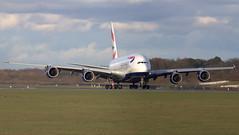 British Airways A380  G-XLEC (deanhammersley) Tags: manchester a380 ba airways bristish gxlec