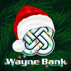 Wayne Bank Santa Hat Profile Pic (Justin Roach Work Stuff) Tags: santa advertising design graphicdesign bank batman scranton nepa brucewayne honesdale 570 waynebank