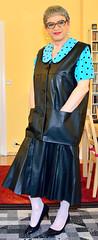 Ingrid021710 (ingrid_bach61) Tags: leather skirt blouse mature leder waistcoat bluse pleated weste faltenrock