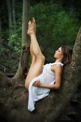 Bianca. (alecdphotography) Tags: white tree beautiful pose model legs dancer location jinbei strobist nikond700 redmatrix