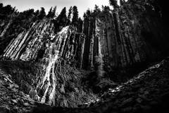 From on High (Bobby Palosaari) Tags: blackandwhite mountain nature water monochrome rock wall outdoors waterfall monatana palisadefalls