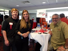 Lynsay, Brooks & Mark Recruiting at the University of Arkansas