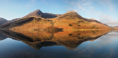 Buttermere reflection panorama (alf.branch) Tags: lake reflection water landscape lakes lakedistrict olympus cumbria zuiko buttermere lakesdistrict refelections calmwater westcumbria westernlakes olympusomdem5mkii ziuko918mmf4056ed