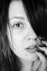 (Caitlyn Peesker) Tags: birthday portrait blackandwhite woman selfportrait beauty eyes close sensual portraiture ambient goodbye gaze challenge windowlight 100days movingforward availablelighting womenportraits womeninthearts tornseams
