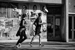 Run and Watch. (kitchou1 Thanx 4 UR Visits Coms+Faves.) Tags: world street people bw streetart france art architecture season landscape spring mural europe cityscape exterior nb printemps nord saison