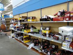 Shoes (Nicholas Eckhart) Tags: usa retail mi america us closed michigan interior walmart inside former stores storeclosing hartland liquidation 2016 supercenter walmartsupercenter