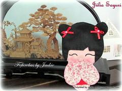Kokeshi (Fofurebas - By Jackie) Tags: bonecas feltro kokeshi decoraoinfantil recmnascido decoraoparabebs fofurebas