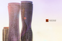 Marilyn Monroe Towers (davidfillion) Tags: city morning urban ontario building tower glass marilyn architecture skyscraper sunrise photoshoot towers monroe condos mississauga sunligh ifttt davidfillionproductions sarahmunn bombshellsexclusives studiohamilton