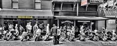 Aug 8 2011 - Party time on Deadwood main street (lazy_photog) Tags: street black color classic photography south main rally tattoos hills lazy bodega motorcycle races dakota deadwood sturgis elliott selective photog 080811sturgisday3