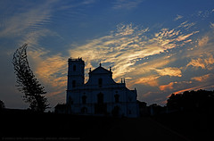 THE DAY DIED FOR GOOD (GOPAN G. NAIR [ GOPS Photography ]) Tags: sunset sky church clouds photography good goa greetings friday heavenly gops gopan gopsorg gopangnair gopsphotography