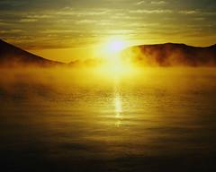 CB030313 (robin-wickens) Tags: morning light sun mist japan reflections outdoors photography asia colorphotography lakes nobody sunrises landforms skyscenes naturalworld bodiesofwater kantoregion sunrisesandsunsets tochigiprefecture