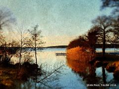 Jour d automne (JEAN PAUL TALIMI) Tags: france texture automne solitude riviere lac paysage ocre bleue silouettes landes sudouest aquitaine exterieur talimi