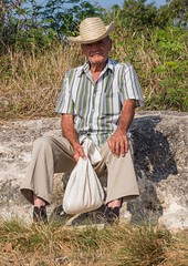 Waiting for a Ride (Chris Willis 10) Tags: man waiting cuba cuban hitchkiker