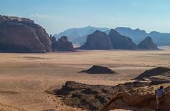 The great desert (Igor Sorokin) Tags: travel panorama mountains landscape lumix haze sand rocks asia desert wadirum scenic tracks middleeast ps panasonic jordan pointandshoot dmc distant pointnshoot