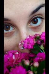 aria di primavera (matildina94) Tags: pink flowers selfportrait eyes rosa happiness persone occhi autoritratto fiori aria ragazza felicit italiangirl lentigini calancola