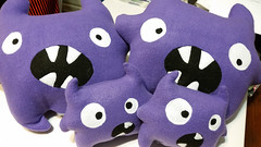 Purple monster plushies finished (Pywackyt) Tags: stuffedtoy monster toy purple sewing plush plushie softtoy