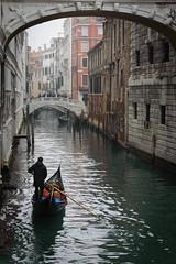 Venice (lltasca) Tags: travel bridge venice winter italy mist cold tourism water architecture river boat europa europe italia ponte romantic gondola venise italie sighs gondolier suspiros gondole sospiri veneto