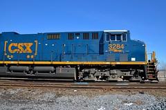 ET44AH front end (Michael Berry Railfan) Tags: cn train quebec ge generalelectric canadiannational freighttrain coteau cn327 cnvalleyfieldsub et44ac et44ah csxt3284