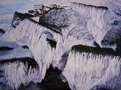 Icicles On Cairn Stones at Slievenamon (niall mccarthy) Tags: winter cold art ice painting frozen cool frost acrylic pattern stones scenic freezing frosty icy icicles cairn acrylics sculpted hangings wintry slievenamon