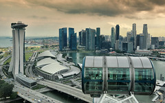 View from the Singapore Flyer (Stefan Sellmer) Tags: architecture clouds singapore cityscape outdoor sg singapur marinabay singaporeflyer marinabaysands