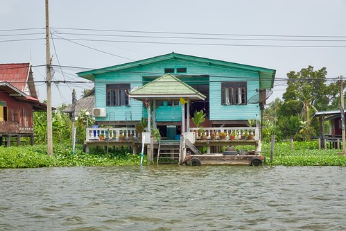 Houses on Ko Kret, an island in the Chao Phraya river near Bangkok, Thailand