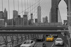 taxi brooklyn bridge (vicente r0driguez) Tags: city bridge newyork brooklyn 35mm nikon manhattan taxi ciudad nuevayork d5200