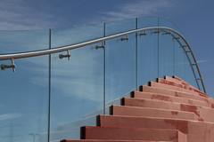 The Couch by MVRDV (Matthijs Borghgraef   Kwikzilver) Tags: detail building glass dutch amsterdam by architecture modern stairs matthijsborghgraef steel railing tribune ijburg mvrdv thecouch kwikzilver ijburgtennisclub