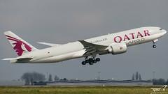 Boeing 777 Qatar Cargo A7-BFH (rouerjb) Tags: airplane airport nikon cargo boeing spotting qatar cdg boeing777 dcollage qatarairways lfpg