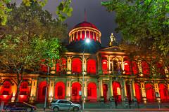 Supreme Court of Victoria - 175th anniversary (les.butcher) Tags: red white building gold anniversary year rich australia melbourne hues lit celebrate 175th supremecourtofvictoria