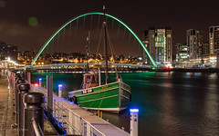 (ADG IMAGES) Tags: longexposure water night river newcastle boat fishing nightscape vibrant bridges tyne gateshead rivers restored nightlife 29 northeast tyneside bk quayside sovereign
