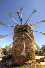 Crete Windmill (Tony Shertila) Tags: blue sky mill windmill weather architecture geotagged europe day outdoor sails scenic structure clear greece crete sitia grc toplo 20160413132410 geo:lat=3522127436 geo:lon=2621558905